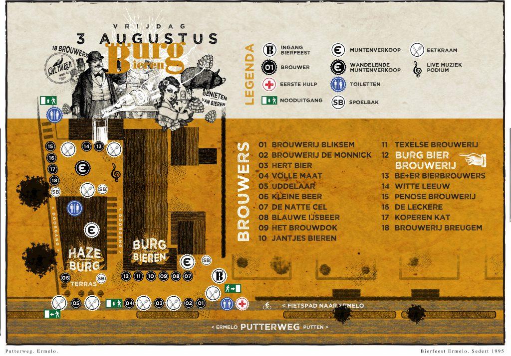 Plattegrond-Burg-Bieren Bierfeest-Poster-A3-vrijdag 2018