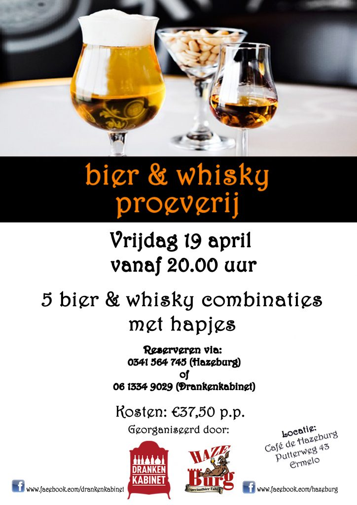 Bier en whiskey proeverij