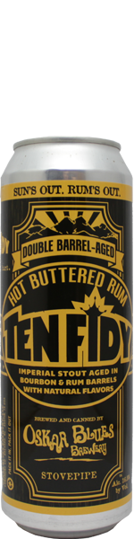 Oskar BLues Ten FIDY Hot Buttered Rum Barrel-Aged Imperial Stout - blik