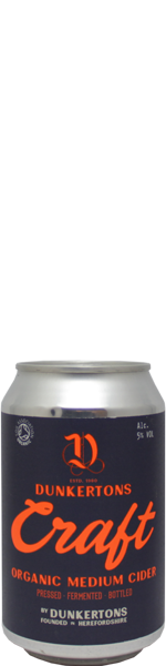 Craft Organic Medium Cider - blik