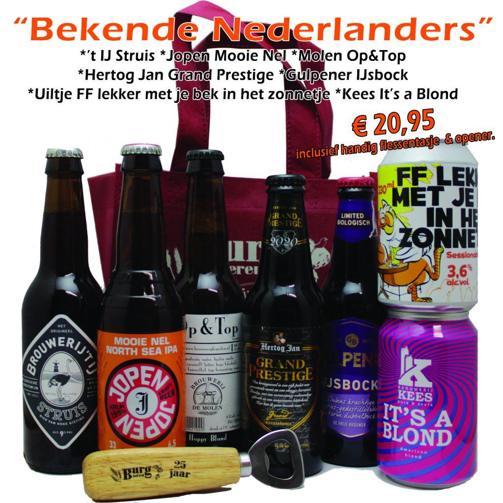 Bierpakket Bekende Nederlanders